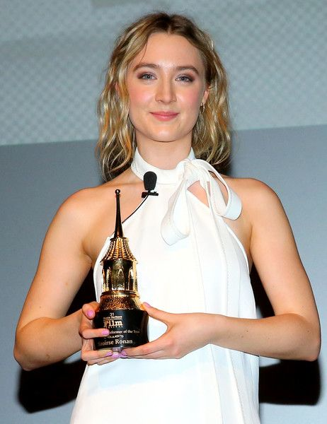 "SBIFF Director Roger Durling and Actress Saoirse Ronan of ""Brooklyn"" attend the Outstanding Performer of the Year ceremony at the Arlington Theater during the 31st Santa Barbara International Film Festival. on February 8, 2016 in Santa Barbara, California"