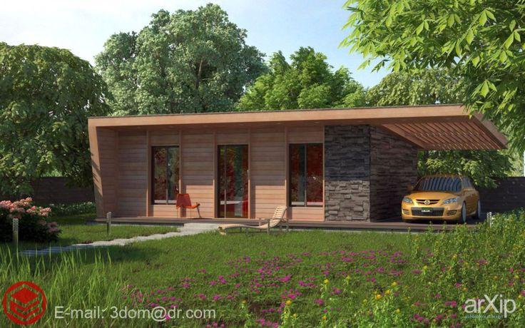 Фото Современный малобюджетный дом 6х9 - архитектура, зd визуализация, 1 эт | 3м, жилье, хай-тек, 0 - 100 м2, каркас - дерево, коттедж, особняк, архитектура