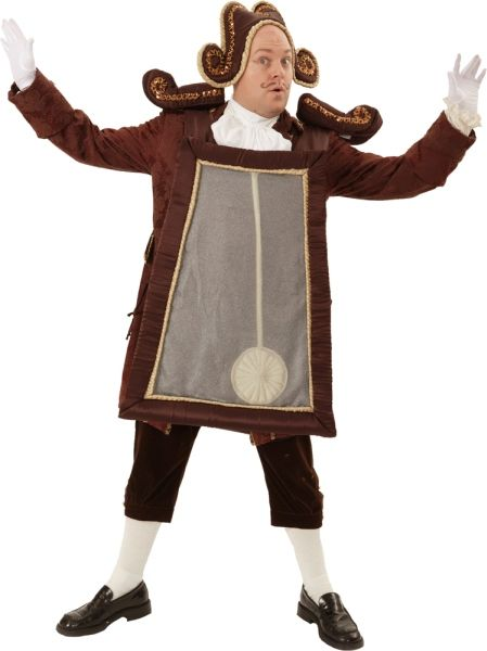 Rental Costumes for Beauty and the Beast - Cogsworth the Clock - Back View