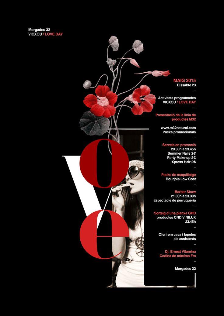 Poster by Xavier Esclusa Trias/M32 Vicxou Love Day