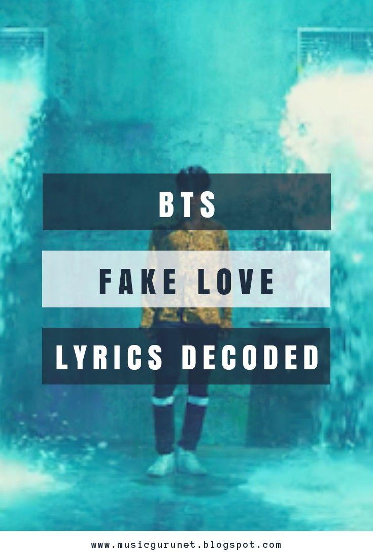 FAKE LOVE by BTS Lyrics Decoded  Read it now! | Fandoms