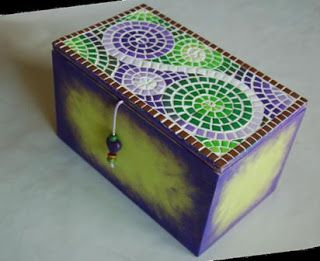 caja mosaico arcilla polimérica