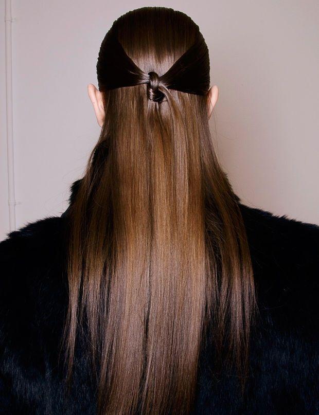 La coiffure nouée défilé Rucci