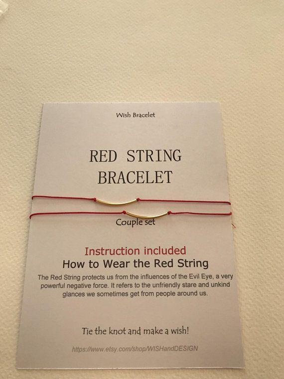 Red string of Fate bracelet Long distance bracelet