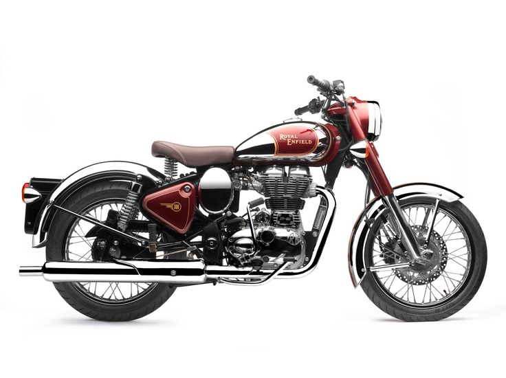 Royal Enfield Classic Chrome in Royal Maroon