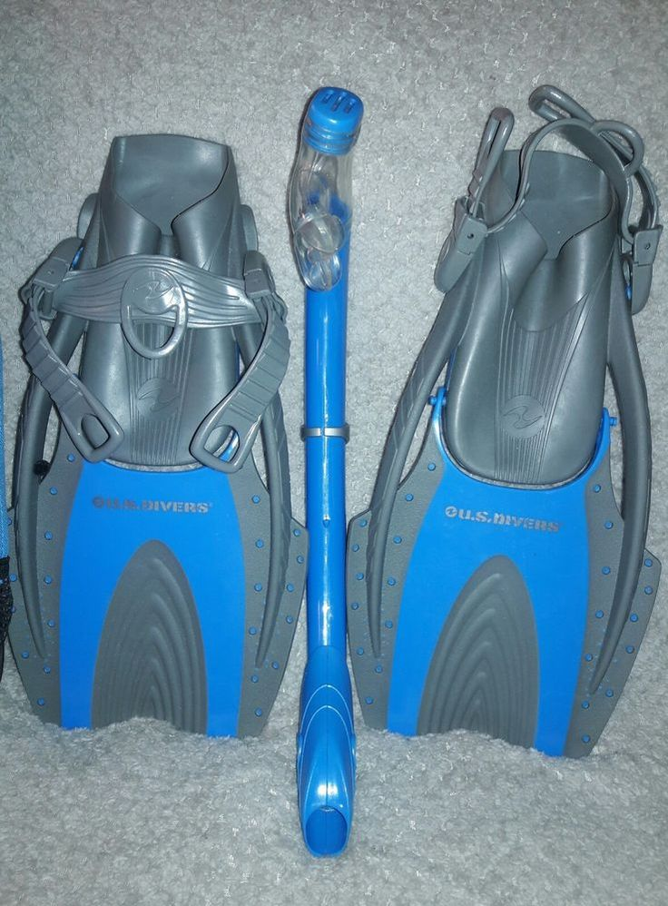 U.S. Divers Snorkel Set - Fins, Snorkel & Bag - Youth Large sz 3-6   Sporting Goods, Water Sports, SCUBA & Snorkeling   eBay!
