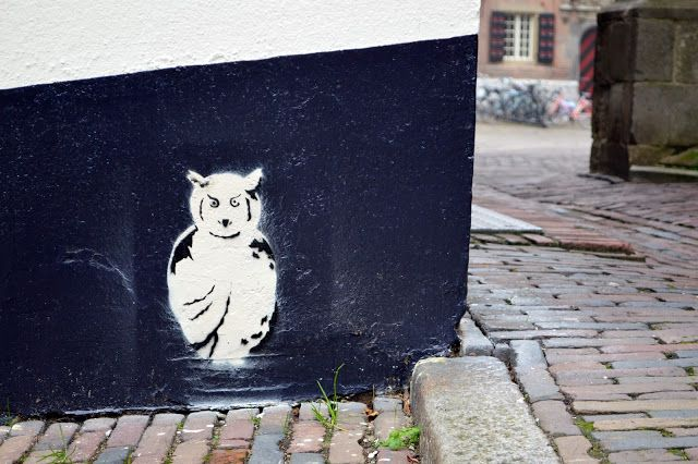 Owl graffiti, Nijmegen