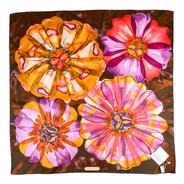 Artistry defined & designed, in this SALVATORE FERRAGAMO Designer Brown Floral Silk Scarf!  |  Find yours! http://www.frieschskys.com/accessories/scarves  |  #frieschskys #mensfashion #fashion #mensstyle #style #moda #menswear #dapper #stylish #MadeInItaly #Italy #couture #highfashion #designer #shopping