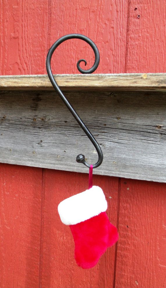Christmas stocking hanger ball and scroll end by