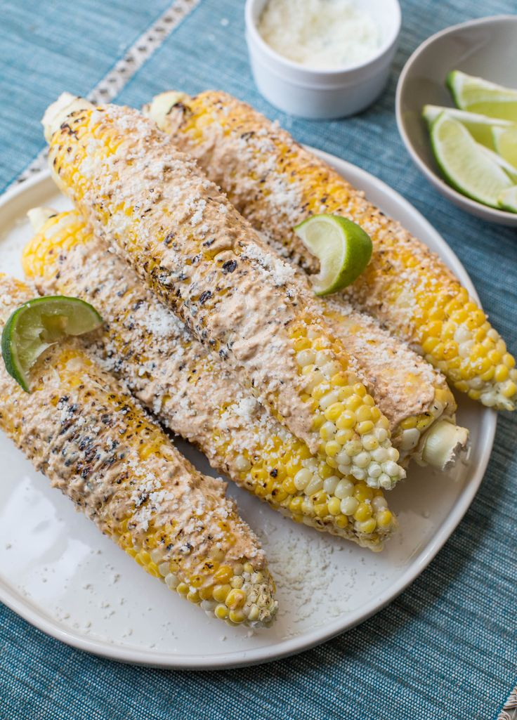 There is nothing better than an ear of simply steamed or grilled fresh corn in the late summer. Except for this Mexican Grilled Corn.