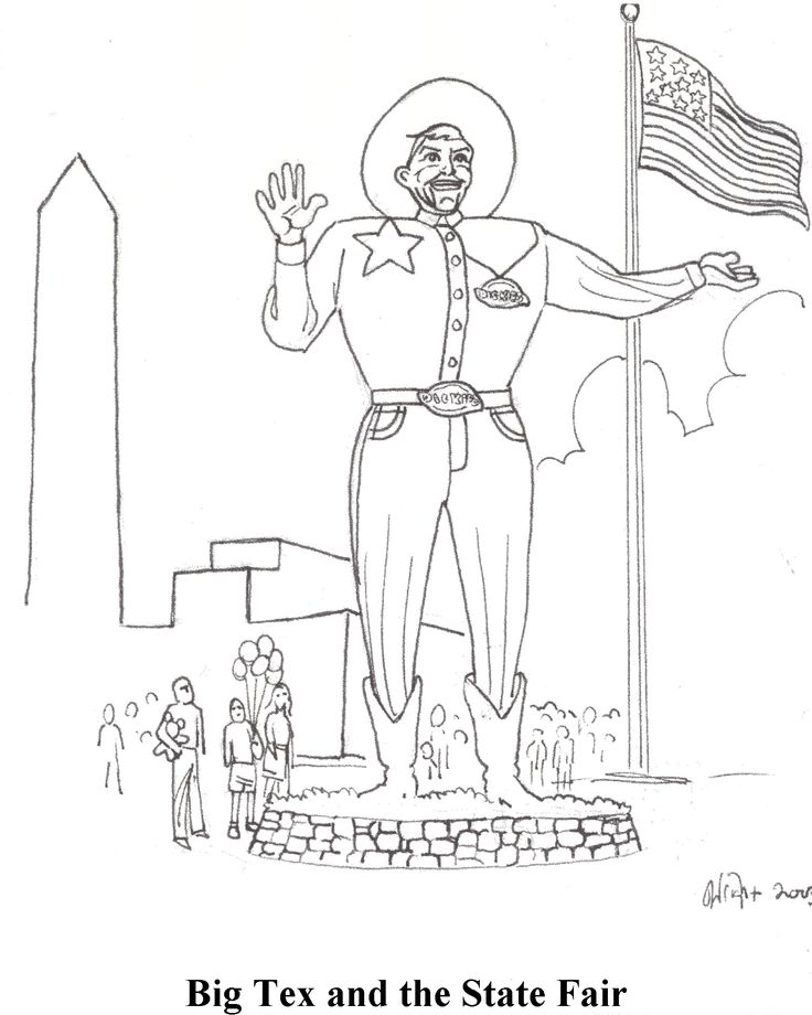 Texas History Coloring Pages