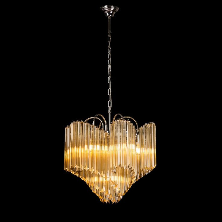 Vintage Murano Glass Chandelier Pasolini Original Edition