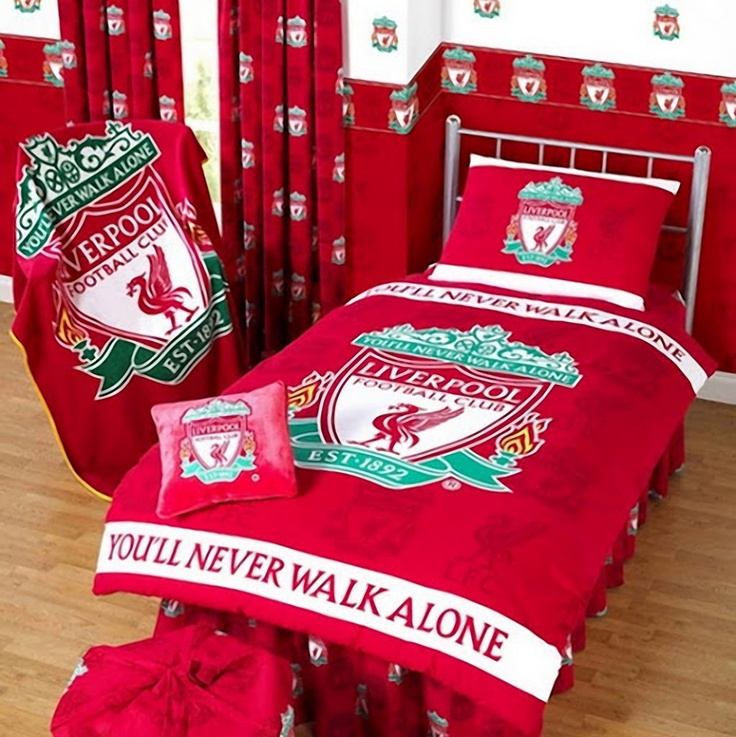exciting football theme bedroom lfc room idea   35 best Liverpool For Life! images on Pinterest ...