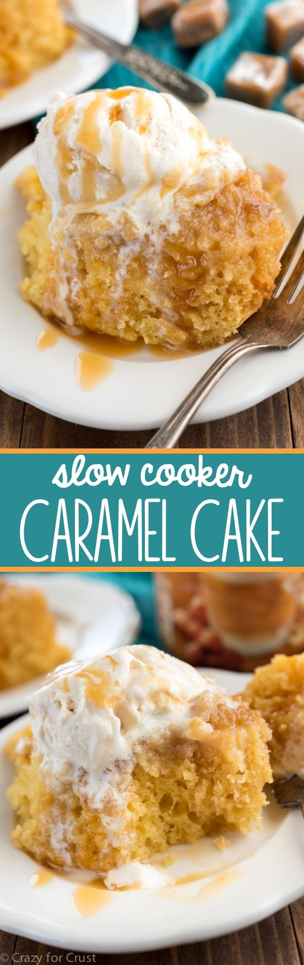 Crazy for Crust Slow Cooker Caramel Cake - Crazy for Crust