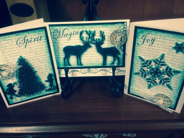 Vintage Distressed Christmas Cards