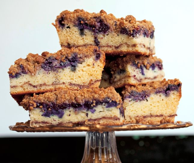 Toss blueberries with panko in a small bowl; scatter evenly over batter. Sprinkle crumb topping over blueberries.