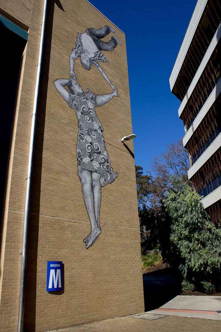 BABY GUERILLA  .. for Victoria University ..  [Melbourne, Australia 2015] (mural I)