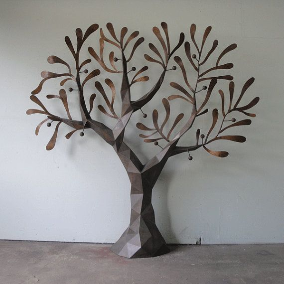 I want an affordable metal tree sculpture