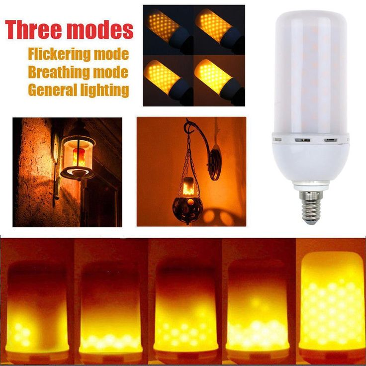 LED E14 5W Flicker Flame Fire Effect Light Bulb