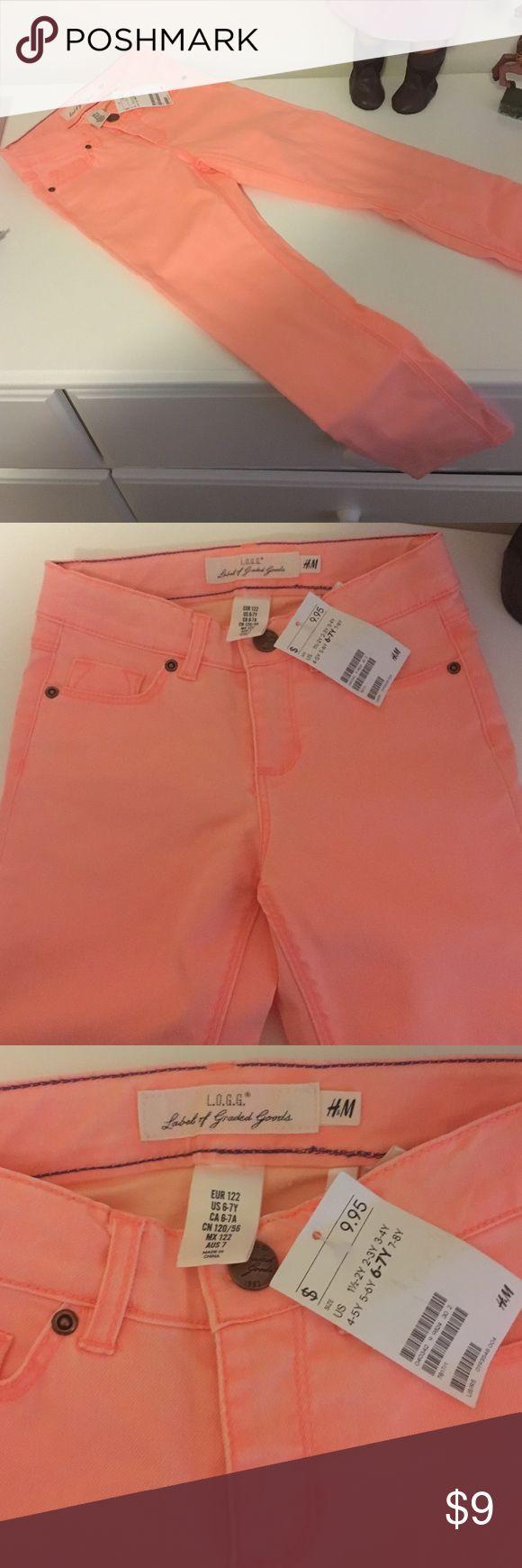 H&M New Peach Skinny Jeans - girls H&M New Peach Skinny Jeans - girls H&M Bottoms Jeans