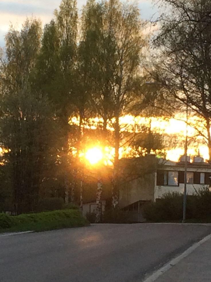 Auringonlasku Takahuhdissa