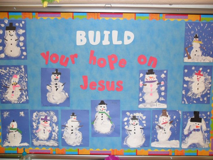 Winter Christian Bulletin Board