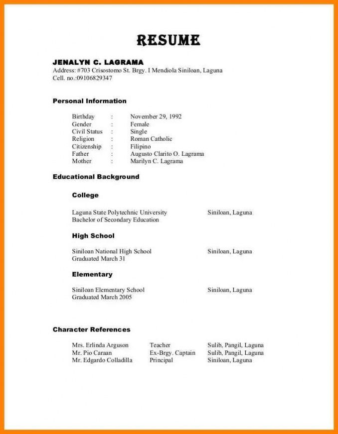Resume Format With References Resume Templates Lebenslauf Lebenslauf Beispiele Perfekter Lebenslauf