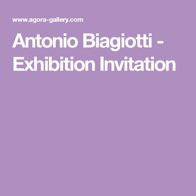 Antonio Biagiotti - Exhibition Invitation