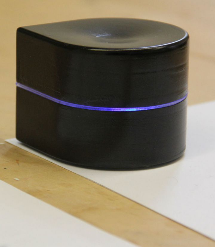 The ZUtA Pocket Printer is the size of a softball.