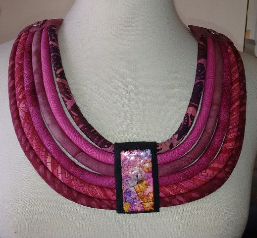 Multi Cord Ethnic Necklace with Egg Shell by paintedthreads2