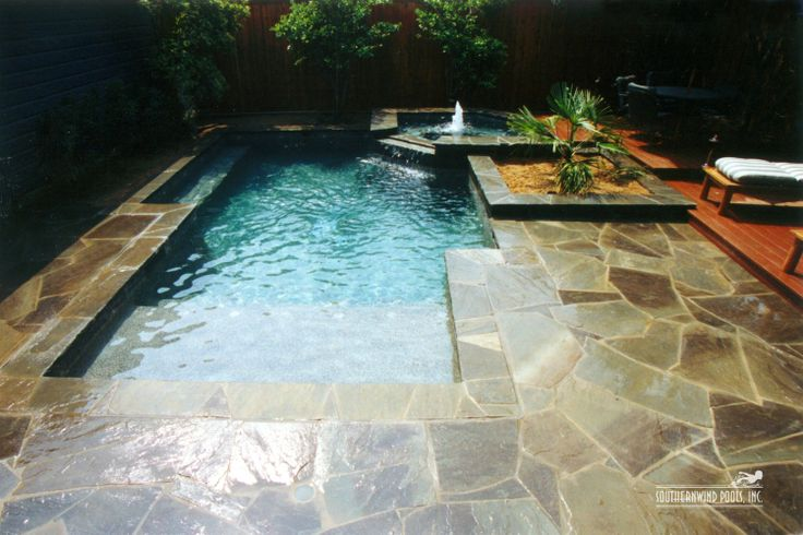 Like The Flagstone Surrounding This Swimming Pool Outdoor Spaces Pinterest The O 39 Jays
