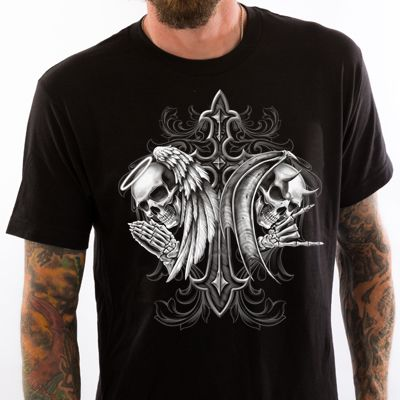Angel Devil Skull T-Shirt