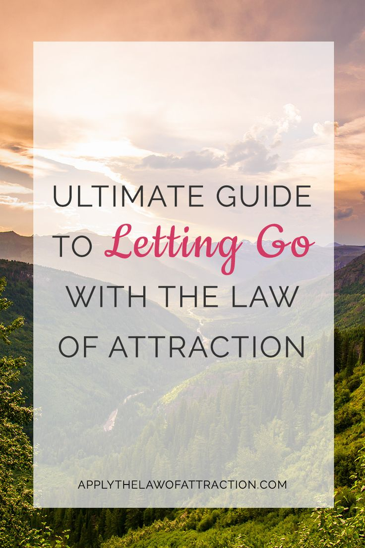 Do you want to know how to let go when using the law of attraction? This post explains exactly how to let go of resistance, worry, your ex, and more. Repin this image to save this pin for later.