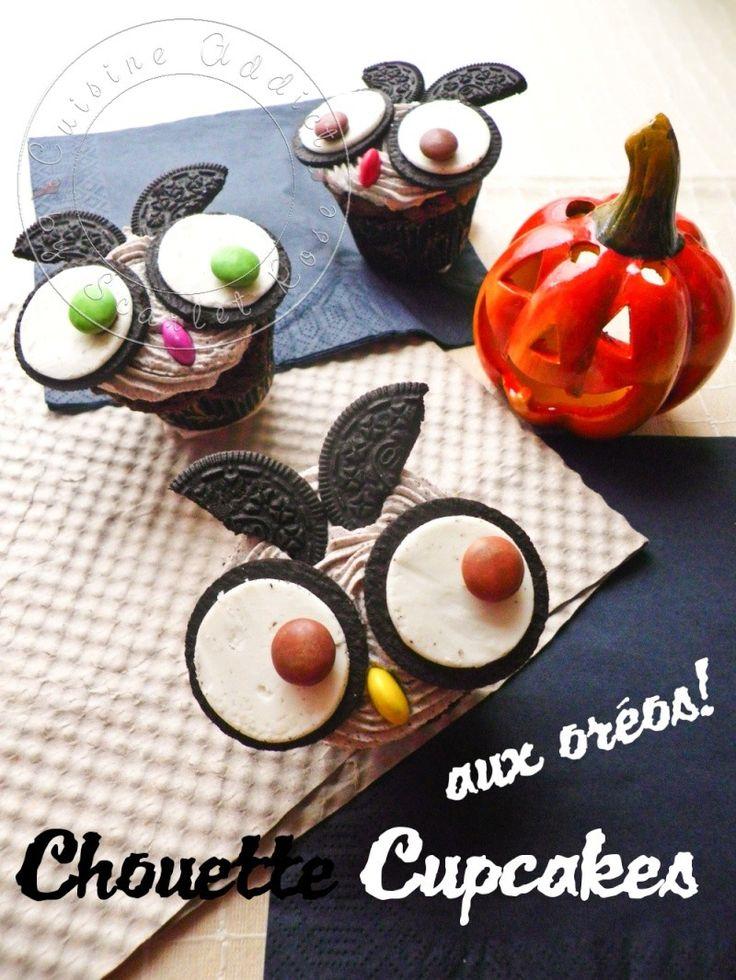 """Chouette"" Cupcakes aux Oreos {Spécial Halloween}"
