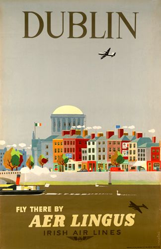 Guus Melai poster for Aer Lingus
