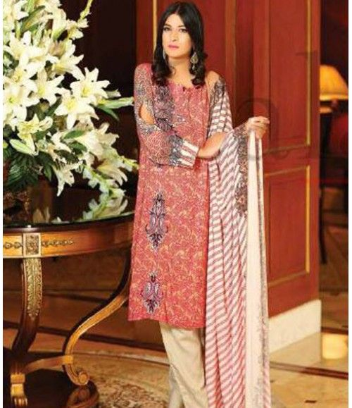 Lala Classic Embroidered Linen Suits collection LLE_06A