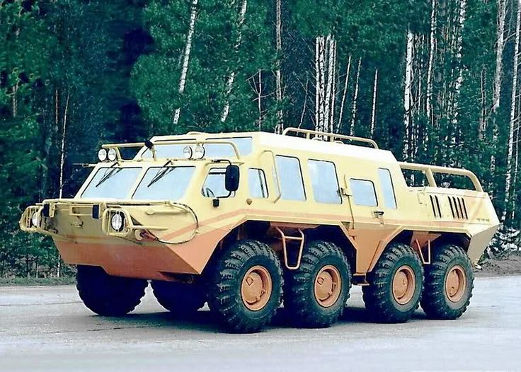 Here's another little Russian beast, the 8x8 all-terrain and amphibious GAZ 59037A .