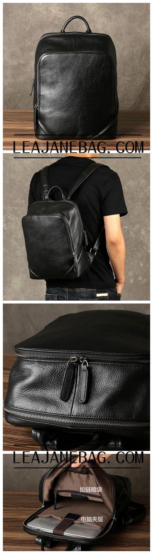Leather Cognack Backpack, Mens Travel Backpack, Handmade Backpack GZ055