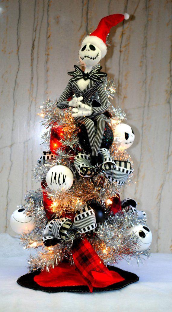 Jack Skellington Nightmare Before Christmas Tree lighted with Custom