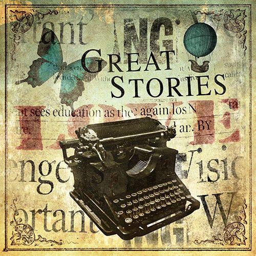JF_0094_GR3 Cuadro Máquina de Escribir Vintage _ Great Stories