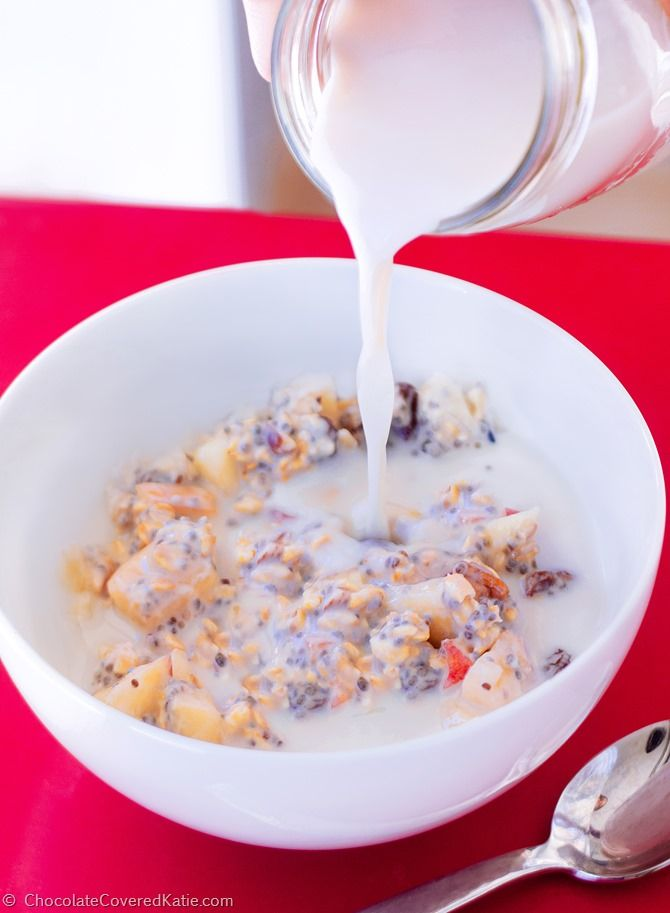 Swiss muesli breakfast bowls from Chocolate Covered Katie