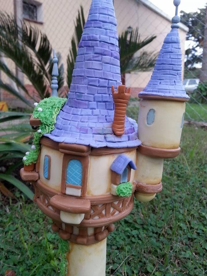 Adorno Torta torre rapunzel