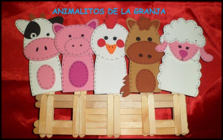 Souvenirs-titeres De Dedo Animalitos Gigantes En Goma Eva - $ 80 ...