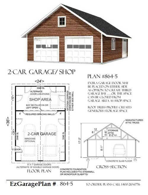 garage workshop plans | ez garage plans over 425 garage plans available buy a garage plan now ...