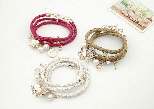 Be special: Bracelets for Women Charm Bracelets & Bangles PU L...