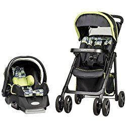 Evenflo Vive Elite Travel System with Embrace Infant Car Seat Green Grey