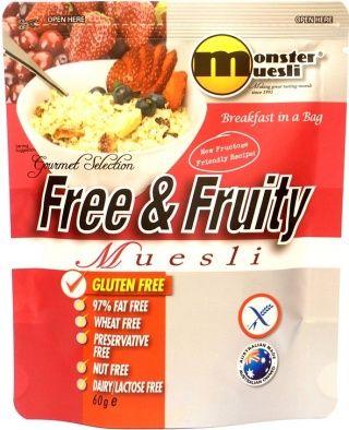 Monster Muesli Free & Fruity - endorsed by Coeliac Australia