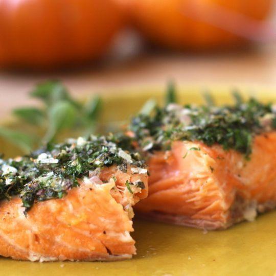 Recipe: Baked Salmon with Herbs & Lemon