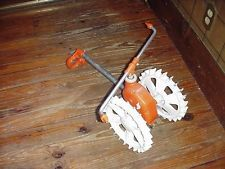 Sherman traveling walking lawn tractor sprinkler waterer