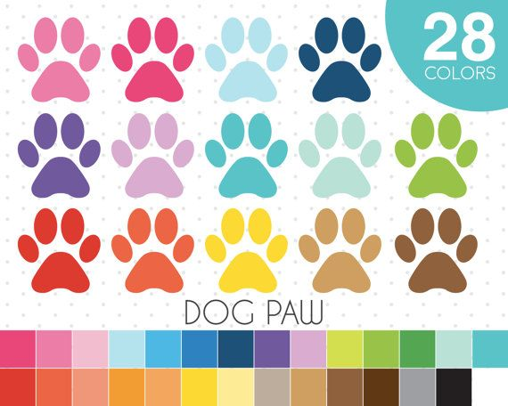 Dog Paw clipart Paw Print clip art Dog Paw icon by JSdigitalpaper